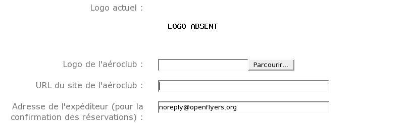 configuration du logo